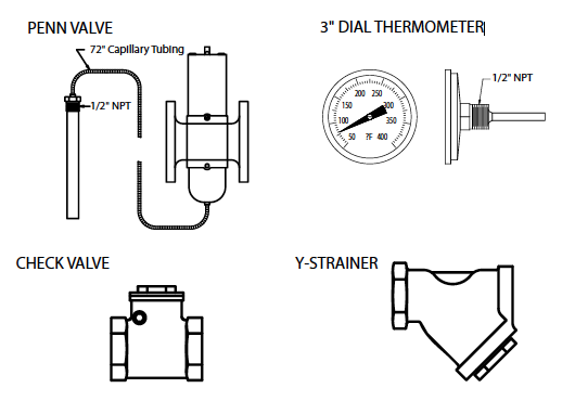COOLING WATER CONTROL ACCESSORIES