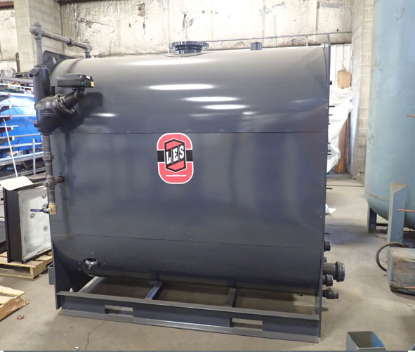 New 30hp, 60hp, 100hp LES low pressure steam boilers - Industrial steam